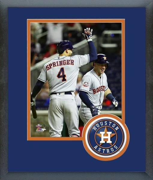 Alex Bregman & George Springer 2018 MLB All-Star Game -11x14 Matted/Framed Photo