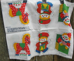 Christmas Toys Fabric Panel Bear Snowman Jack Box Horse Toy Soldier Dog ... - $12.99