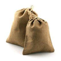 "10"" X 14"" Burlap Bag with Drawstring Bag Eco Friendly Natural Color Jute... - $12.12 CAD"