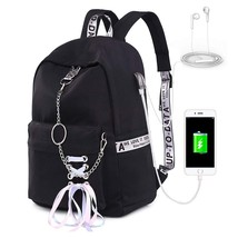 Teen Girl School Backpack with USB Charging Port 12-16 inch Laptop Bag  - $32.99