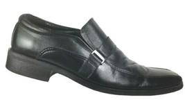 Steve Madden Mens Loafers Size 10 M Monk Strap Black Leather Slip On Bic... - $32.37