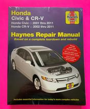 Honda Civic 2001-2011 Honda CR-V 2002-2011 Haynes repair manual 42026 - $22.50