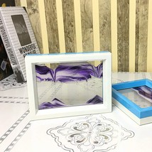 CooCu Moving Sand Art Framed Picture, Black/White/Purple - $16.75