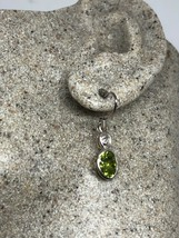 Vintage Peridot Earrings 925 Sterling Silver Genuine Stone Dangle - $95.04