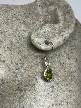 Vintage Peridot Earrings 925 Sterling Silver Genuine Stone Dangle - $95.04
