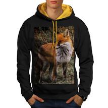 Flaming Hunter Fox Sweatshirt Hoody Clever Beast Men Contrast Hoodie - $23.99+