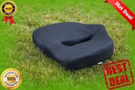 Orthopedic Memory Foam Seat Cushion Thick Padded Portable Black Car Seat... - $23.30