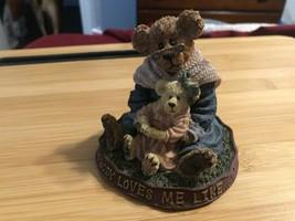 Boyd's Bears Figurine Nana Quignapple w/Taylor - $7.50