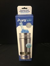 NEW Pura Kiki Stainless Steel  Toddler Baby Straw Bottle 11oz - $24.95