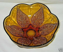 Anchor Hocking Renaissance Pattern Gold 7 1/2-inch Footed Bowl - $12.82