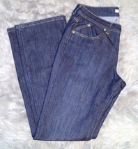 Chicos Platinum Jeans Size 1R Bootcut/Straight Leg Gold Contrast Stitch ... - $14.85