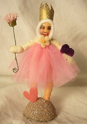 Vintage Inspired Spun Cotton Valentine Princess no. 138