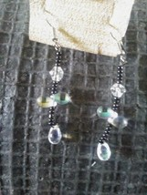 Handmade beaded dangle earrings  - $6.00