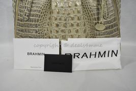 NWT Brahmin Adina Leather Tote/Shoulder Bag in Silver Birch Melbourne image 11