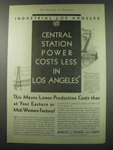 1930 Bureau of Power and Light City of Los Angeles Ad - Industrial Los A... - $14.99