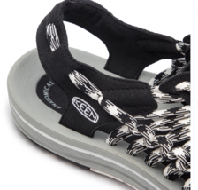 Keen Uneek Flat Cord Size US 7 M (B) EU 37.5 Women's Sport Sandals Shoes Black image 5