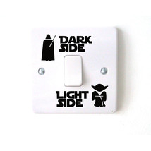 Wars dark light side star classic film funny vinyl switch stickers decal 3ws0001 thumb200