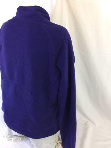Merona Women Purple Zip Up Jacket Size L 100% Polyester Bin37#12