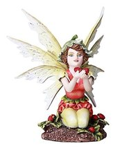 Adorable Strawberry Fairy Fantasy Fairy Collectible 4.75 Inches - $27.71