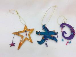 Encore Group Metal Christmas Ornaments Stars Beaded 25660 - $11.72