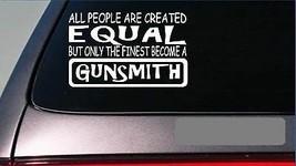 """Gunsmith equal Sticker G661 8"""" vinyl ammo box trigger barrel skeet hunting - $4.99"""