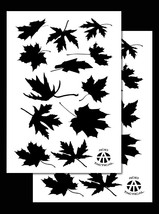 """2 PACK Vinyl Airbrush Camo Stencils Camouflage for Duracoat 14"""" (Leafy M... - $9.99"""