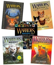 Erin Hunter WARRIORS COMPANION GUIDES Collection Set of HARDCOVERS 1-5 - $66.99