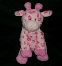 2006 Ty Pluffies Baby Giraffe Pink Tiptop Stuffed Animal Plush Toy Sewn Eyes - $42.08