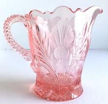 Macbeth Evans Dark Pink INVERTED THISTLE Depression Glass Creamer Pitche... - $22.76