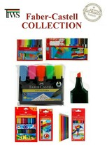 Faber Castell Connector Pens Crayons Textas Water Color Pencils Highlighters  - $6.11+