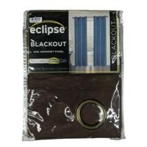 Eclipse Blackout Window Curtain One Grommet Panel Brown Room Darkening 4... - $14.96