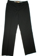 NWT $100 Ellen Tracy Straight Leg Pants Work 6 Black Stripes 30 X 32 Wom... - $45.00
