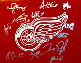 2014-15 Detroit Red Wings Team Signed Team Autographed 11X14 Photo w/COA Datsyuk - $175.00
