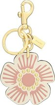 COACH Women's Willow Floral Bag Charm Gd/Chalk One Size