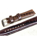Genuine leather watch band 18mm special cut 22mm Vintage alligator grain - $21.12