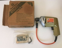 """Used Vintage BLACK & DECKER 1/4"""" Electric Drill Driver No. 7004 Type 1 W... - $15.34"""