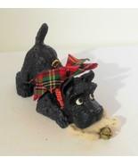 Little Scottie Dog Ornament with Fabric Bone - $13.00