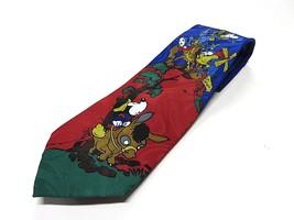 Disney Mickey & Goofy Windmills Multi-Color 100% Polyester Neck Tie Made... - $24.70