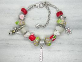 Teacher Themed European Murano Beaded Bracelet. Gift bag included - $19.95