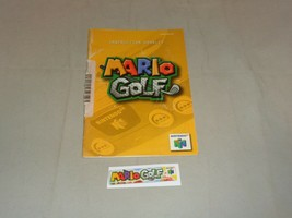 Mario Golf, Manual & End Label, Nintendo 64 - $9.99