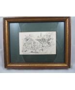 Vintage Jas F Murray Framed Original Pencil Etching Governor's Palace VA... - $49.00