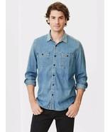 New Gap Men Denim Classic Fit Worker Shirt Indigo Size L - $32.29