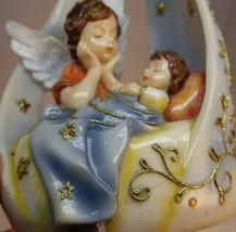 Vintage Angel Baby Star Music Box Figurine Plastic Sankyo Christmas Deco... - $8.59