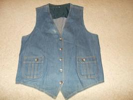 VTG-1970s Lee Set Denim Jean Vest Sanforized Sanfor set Waistcoat 42R - $65.58