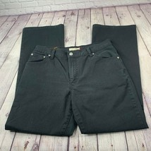 Levi's Women's 550 Relaxed Boot Cut Black Jeans 5 Pocket Size 14M - $27.90