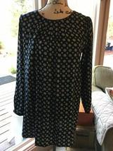 Forever 21 Black  & Tan Long Sleeve Medium Dress Bust 38 Length 32 007-22 - $15.09