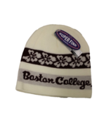 Boston College Adult Unisex White/Maroon Floral Beanie, One Size - $9.89