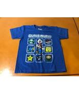 Boys Kids Super Mario Bros Brothers Blue T-Shirt Size XS 5/6 Cotton Blend - $4.94