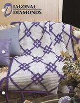 Diagonal Diamonds, Annie's Crochet Quilt & Afghan Pattern Club Leaflet Q... - $7.95