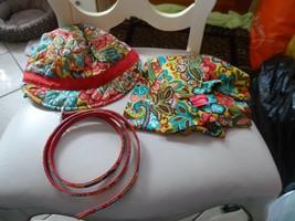 Vera Bradley Newsgirl Hat, scarf and belt in Provencal pattern - £32.30 GBP